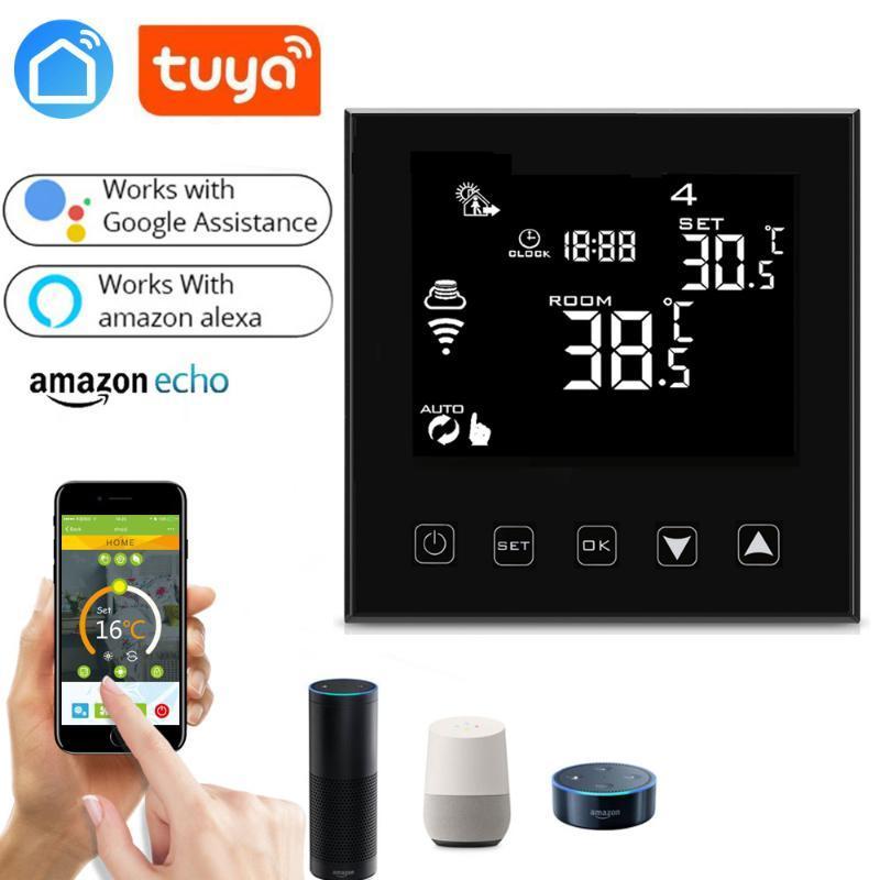 Smart Home Control Wifi Thermostat LCD Touchscreen Fußbodenheizung Elektrische App Remote White