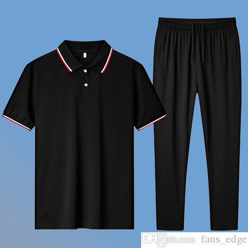중년 남성 남자 스포츠 정장 여름 새 짧은 소매 티셔츠 얼음 실크 빠른 건조 캐주얼 2 피스 슈트 아빠 여름 착용