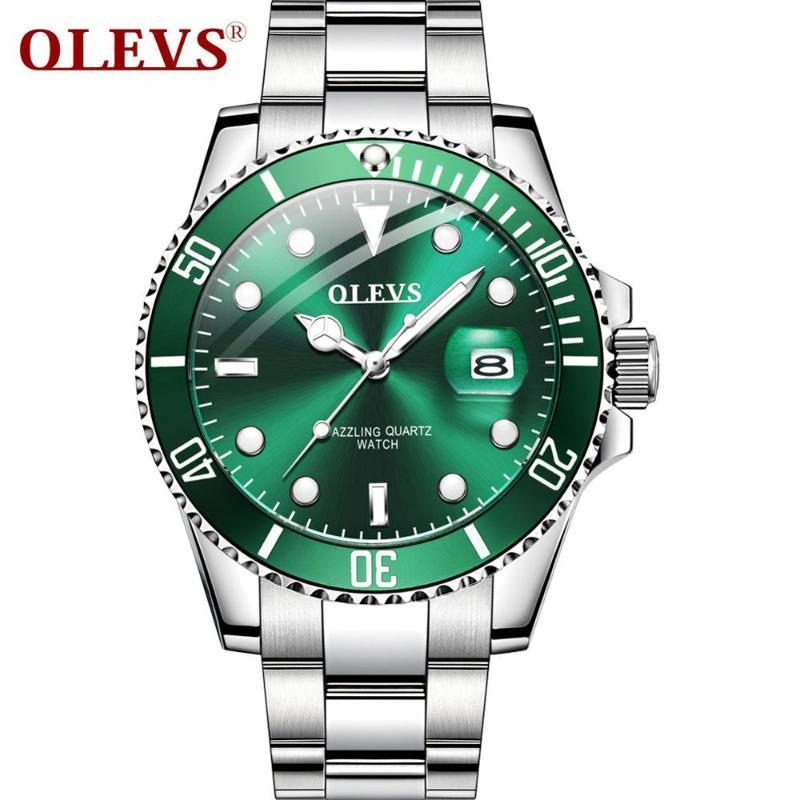 Armbanduhren diamant luxus gold uhr männer grün quarz mode edelstahl mann top marke business wasserdicht reloj hombre