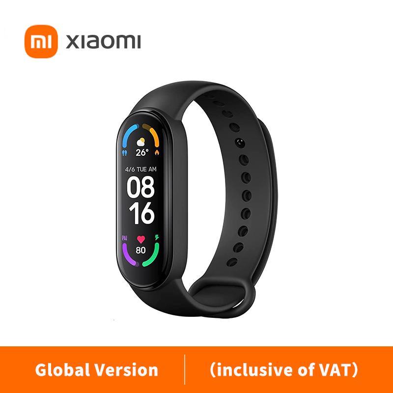 """Original Xiaomi Mi Band 6 Esporte Pulseira Coração Fitness Tracker Miband 1.56 """"Pulseira de cor inteligente de tela amoled (inclusive do IVA)"""