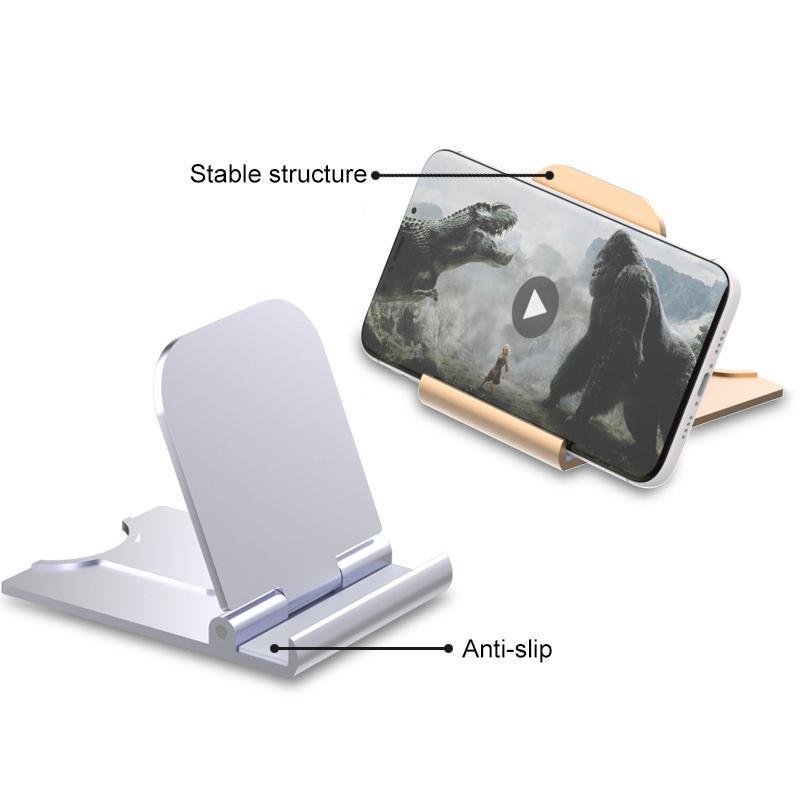 Universal Folding Celular Tela Tela Suporte Plástico Desk Stand Titular Titular Stents para iphone x Xs Pro Max ipad tablet com caixa de varejo