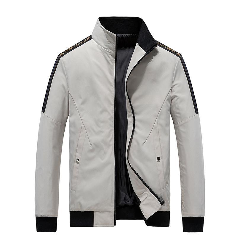 Jaquetas masculinas Plus Size 6XL, 7XL, 8xl Jaqueta Stand-up Collar Business Casual Outerwear Bomber Outono Marca Roupas