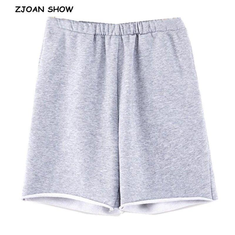 Été à la taille haute genou Longueur large jambe pantalon Femmes Hurr Cuff Pantalon de sport Casual Sport Femmes Joggers Streetwear Pantalons de loisirs 210414