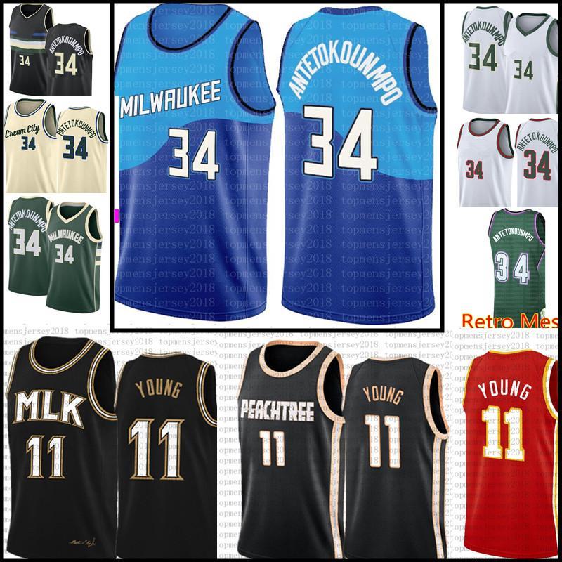 # جيانيس 34 antetokounmpo جيرسي هسي 11 شاب كرة السلة الفانيلة الأخضر أسود أبيض أحمر بيج S-XXL