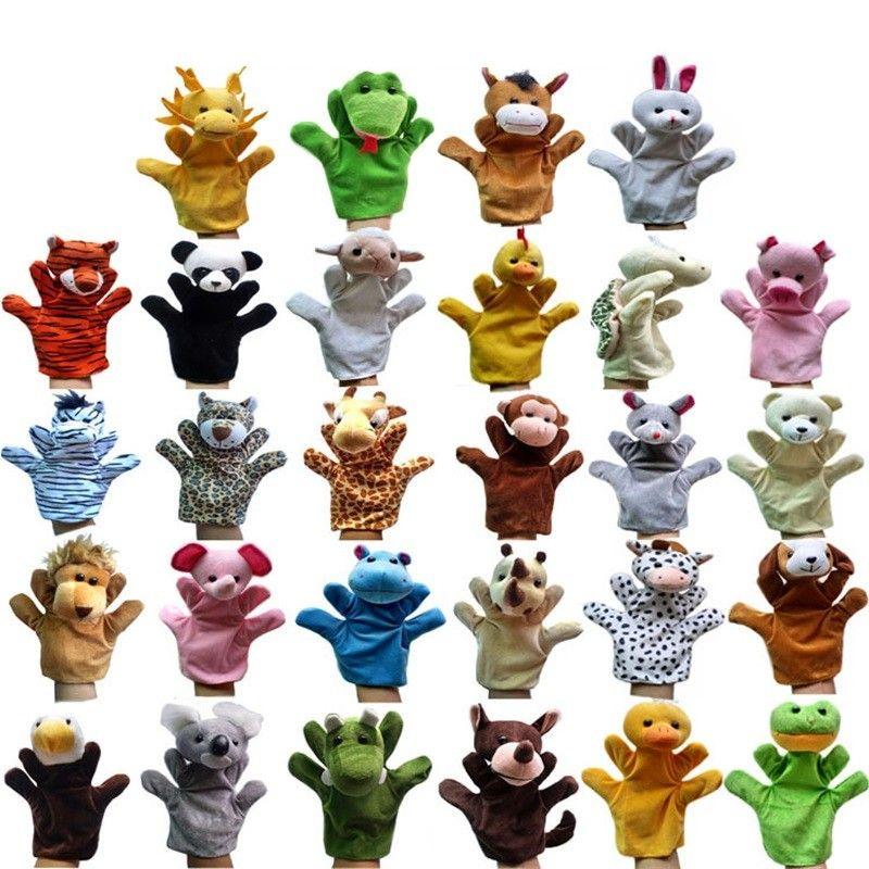 12 pçs / lote fantoches de mão engraçado para fantoches de mão de pelúcia crianças para venda chinês estilo zodíaco desenho animado fantoches tamanho grande 1034 v2