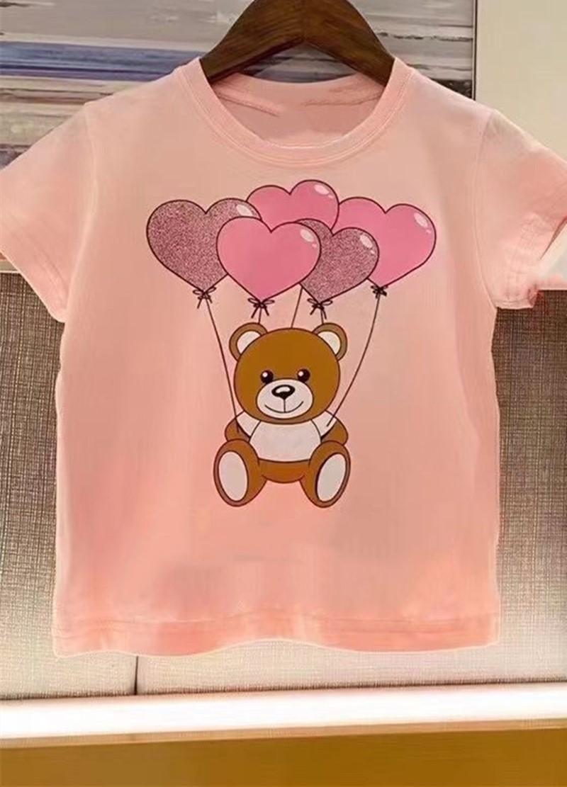 2021 Yaz Yüksek Kalite Çocuk Giyim Erkek Kız T Gömlek Pamuk Kısa Kollu T-Shirt Çocuklar Çocuk Rahat Sevimli Bebek T-shirt
