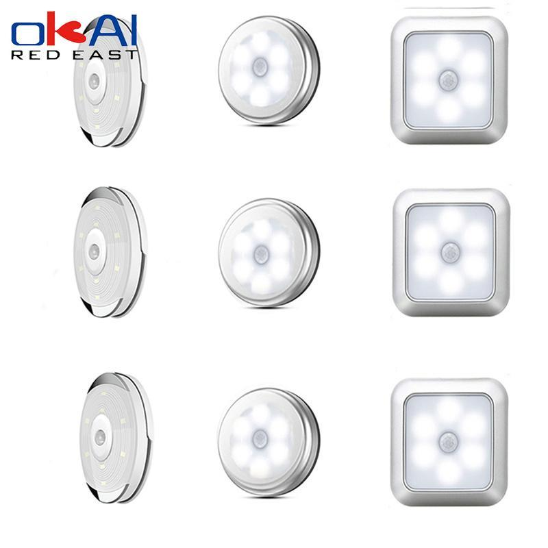 Motion Sensor Wireless LED Night Lights Bedroom Decor Light Detector Wall Decorative Lamp Staircase Closet Room Aisle Lighting. Cabinet