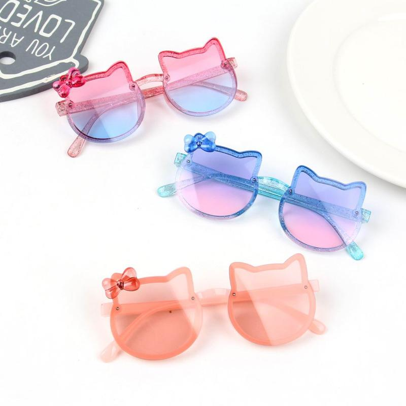 Free DHL Boys Girls Fashion Sweet Sunglasses Kids Cute Cartoon Eyeglasses Eyewear Summer Beach Outdoor Sports Child UV Protection Sun Glasses