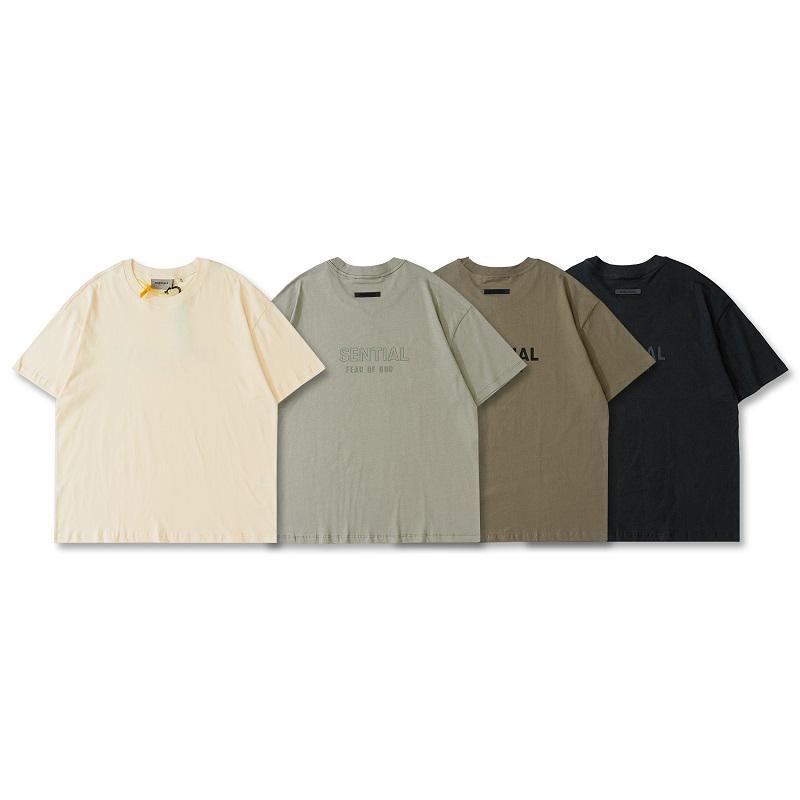 2021 봄 여름 미국 유럽 뒷면 3D 실리콘 로고 티 남성 T 셔츠 여성 거리 스케이트 보드 캐주얼 코튼 티셔츠
