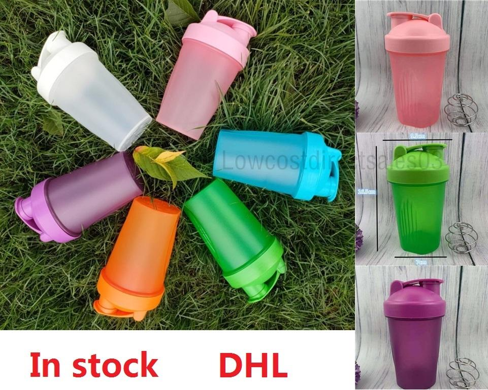 MilkShake Water Bottles Drinkware Kitchen Dining Bar 400Ml Whey Protein Powder Mixing Bottle Sports Fitness Shaker 6 colors In stock Fast Delivery