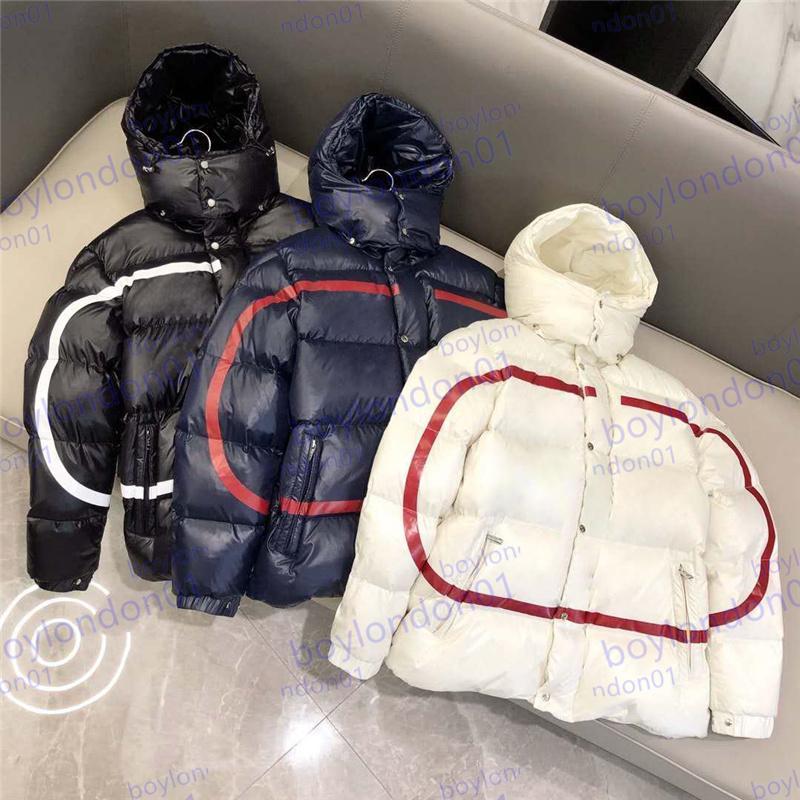 Diseñador de chaqueta de invierno para hombre en parkas abrigos de alta calidad chaquetas de moda cuello redondo hombres y mujeres rompevientos con capucha ropa de abrigo