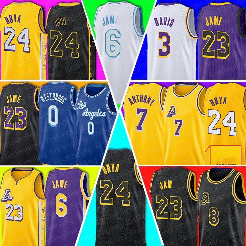 Джеймс Джерси NCAA Anthony 3 Davis Russell 0 Westbrook Los Carmelo 7 Anthony Basketball Angeles Lebron Mens Mamba Black Talen 5 Horton-Tucker