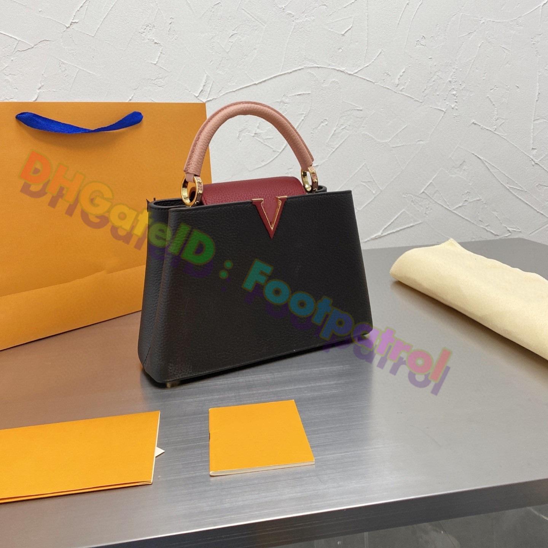 2021 Designer di Lussurys Borse Classic Totes Borsa da donna Real Pelle Pelle Top Quality Lady Cross Body Borse Borse BodNe Pattern Borsa a tracolla Multicolor Borsa