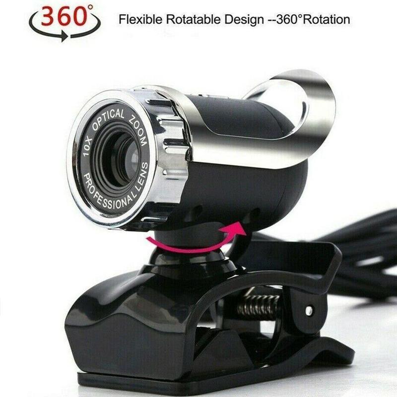 웹캠 웹 카메라 PC 컴퓨터 야간 Vision 웹캠 USB HD 마이크 캠 웹 카메라 YouTube 비디오 교육