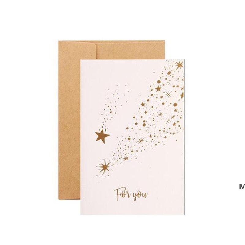 Бумага поздравительная открытка Спасибо лучше всего пожелания складной карты подарок карты карты DIY праздничные вечеринки украшения конверты DHF7055