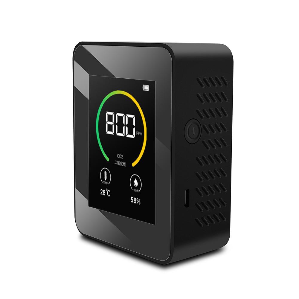 K02 Air Quality Tester Tester Monitor Purificatori Aria Display LCD Professione Analizzatore Indoor Intelligent CO2 Detector Accessorio domestico