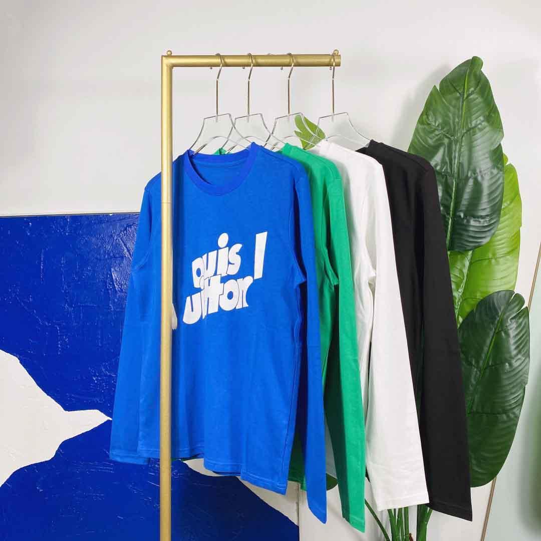 2021ss Spring and Summer Nouveau Coton de haute qualité Impression à manches courtes Panneau rond T-shirt Tableau: M-L-XL-XXL-XXXL Couleur: noir blanc A2211ss