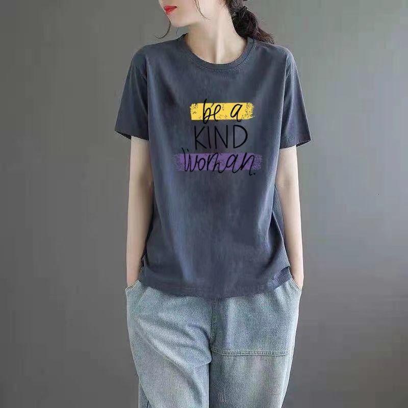 2021 T-shirt à manches courtes de l'art de l'été Femme Coréen Summer Nouveau T-shirt Féminin Large Et Féminin