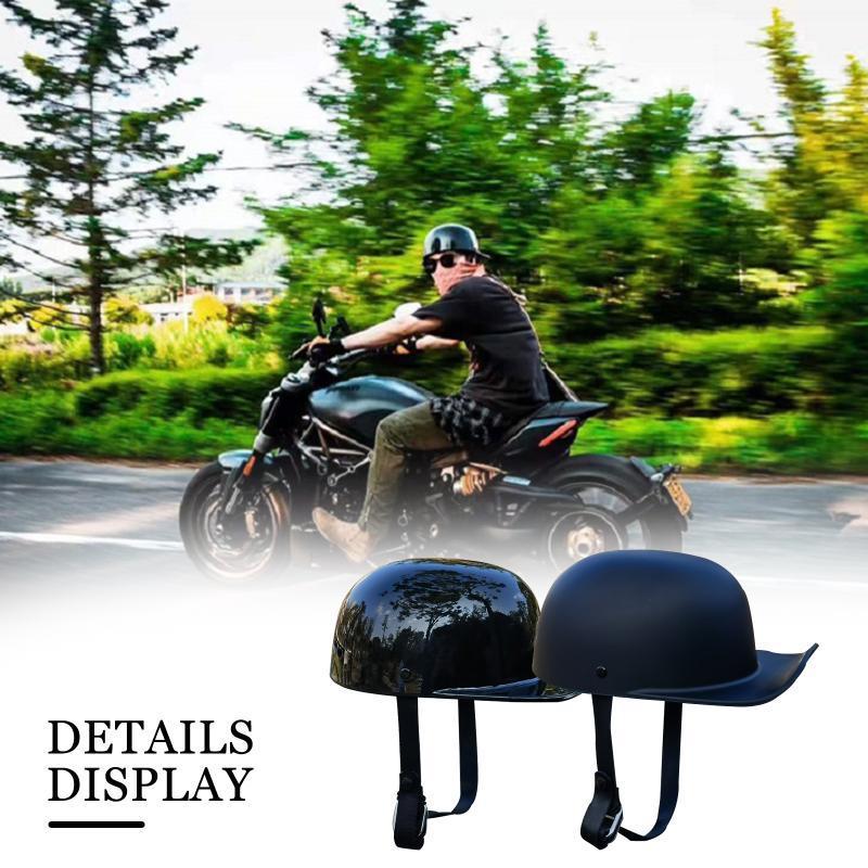 Negro Adulto Cara abierta Medio Casco Moto Accesorios de Motocicleta Vintage Motorbike Motorista Montar Crash Scooter / Cruiser / Helmets Helmets