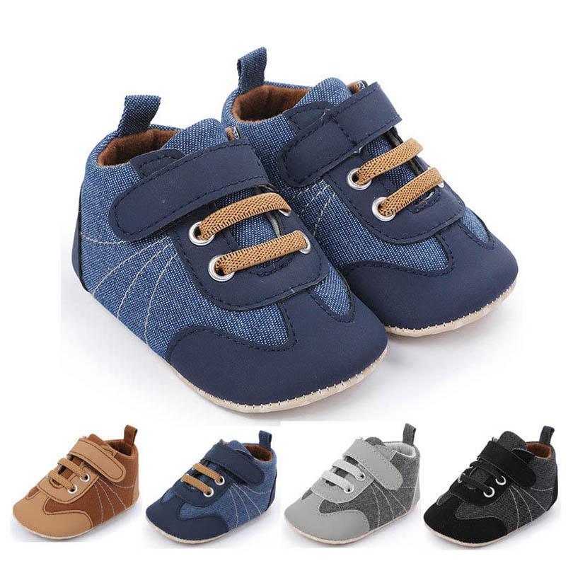 طفل أول مشوا أحذية أطفال الأحذية طفل الفتيان الأحذية الأطفال ربيع الخريف عارضة أحذية رياضية الأخفاف لينة 0-12 متر b4667
