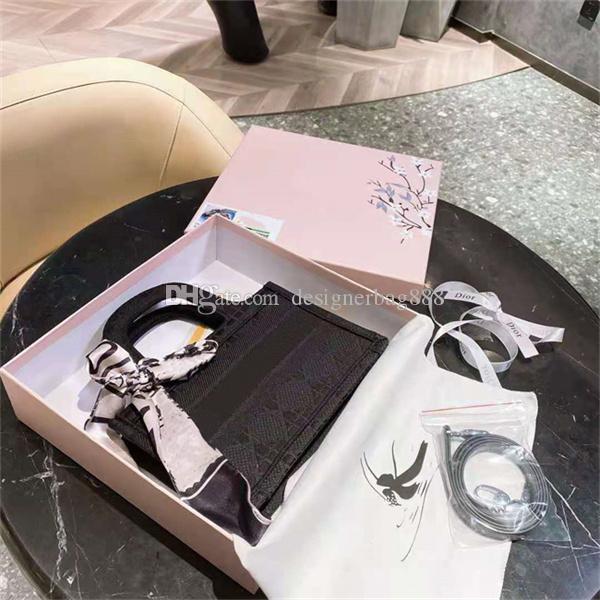 Diseñador de moda Mini bolsas de asas Bolsa de hombro de alta calidad para mujer Estilos casuales bolsos bolsos de bolso de lona bordados por todo el material de tela multicolor opcional