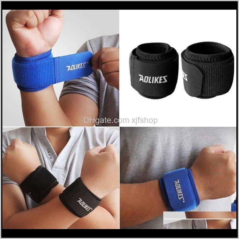 Acessórios AOLIKES 1 PCS Sports Wristband Ginásio Pulso de Poluito Apoio Correias Envoltório Bandage Fitness Training Safety Bands S1166 Yokuy DP1FV