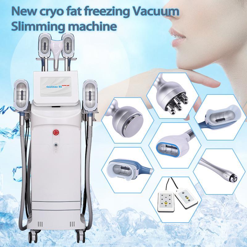 10 in 1 Cryolipolysis Machine Dimagrante con doppio mento Rimuovere la cavitazione 40khz RF Lipolaser FAT FATTURE FREEZE ATTREZZATURE COOLSCULPT