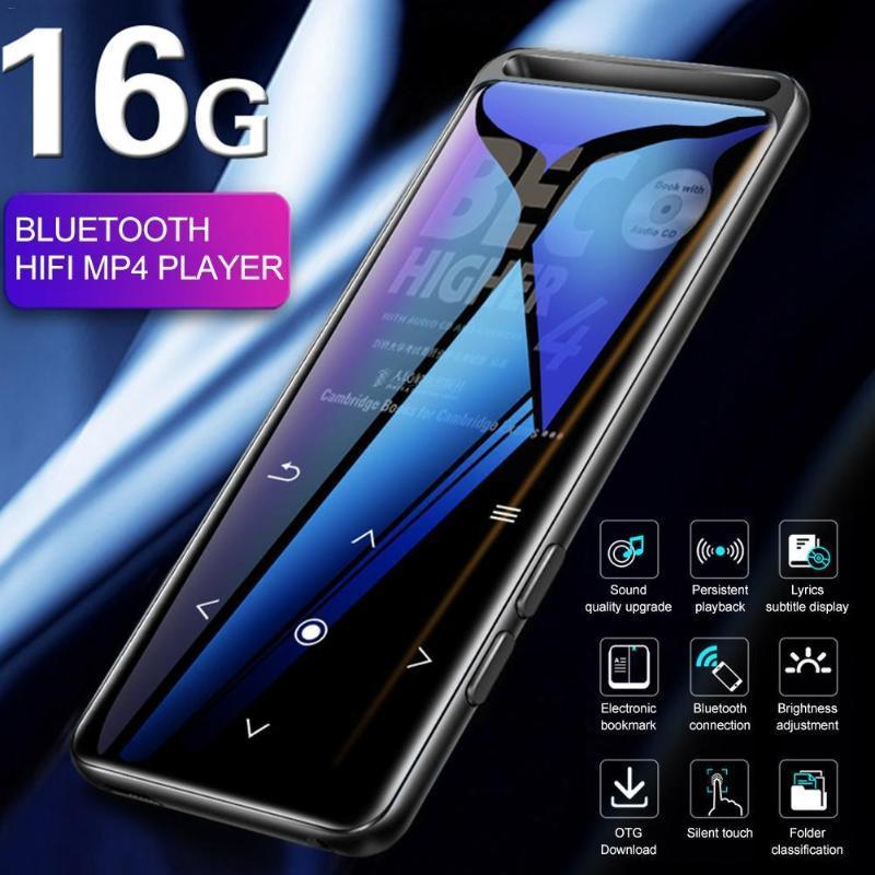 Giocatori MP4 M6 Bluetooth 5.0 Player mp3 senza perdita 16GB HiFi Portable Audio Walkman con FM Radio Voice Recorder Music