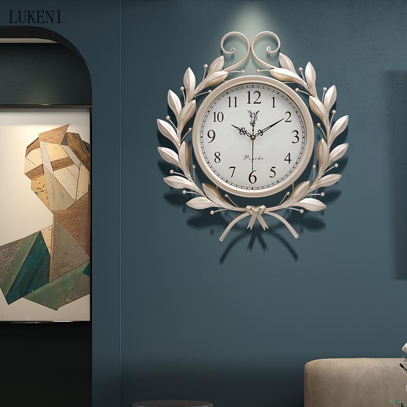 American Art Light Luxury creativo creativo orologio orologio orologio da parete moderno minimalista home salotto al quarzo personalità