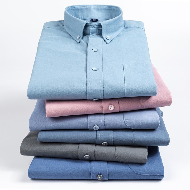 Spring and Automne Nouveau Chemise de coton Homme À Manches Longues Manches Oxford Spinning Loisirs Fashion Coréen Business Hommes Hommes Hommes
