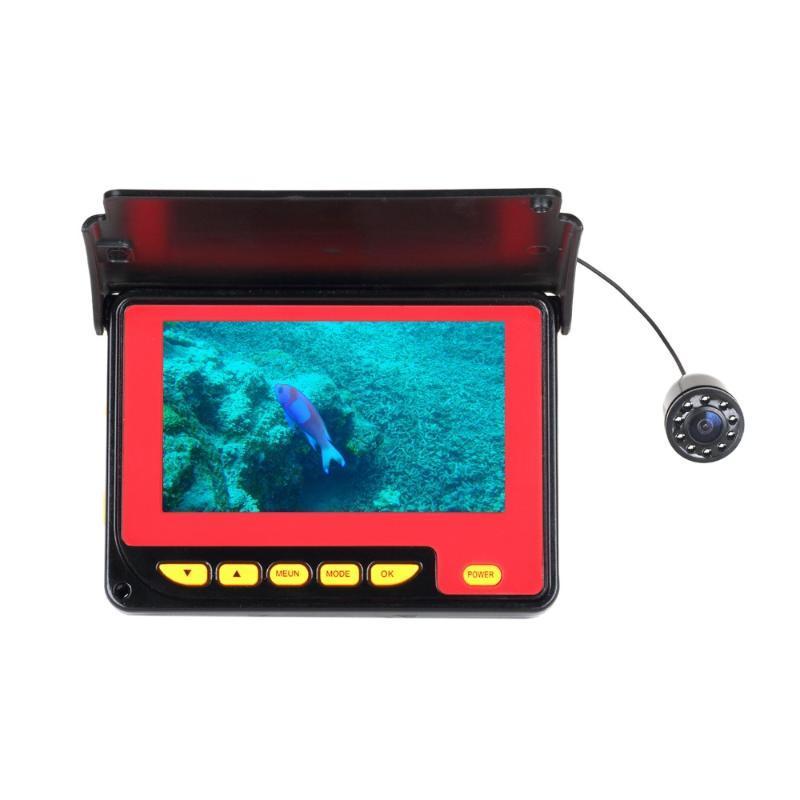 Kit del sistema de la cámara del buscador de peces bajo el agua del sistema de la pantalla LCD de 4.3 pulgadas para el cable de 20 m para el barco, el kayak, el océano, el hielo, las cámaras de la pesca del lago