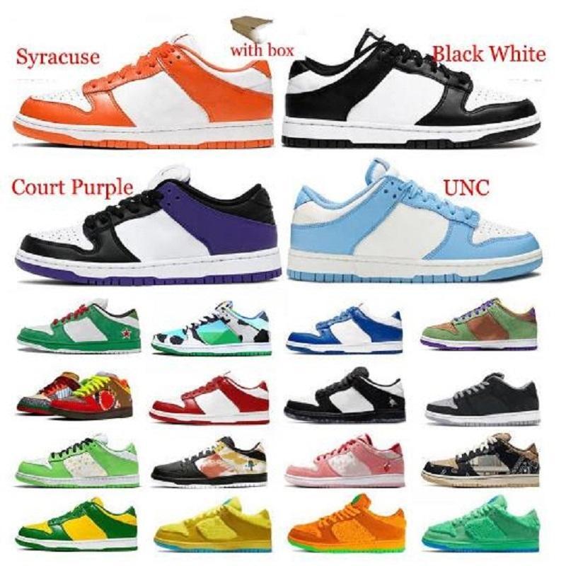 أحذية الرجل مع مربع منخفضة dunks مكتنزة حذاء في الهواء الطلق البرازيل الظل syracuse الأزرق الغضب الأسود الأسمنت سكيت الرجال المدربين أحذية رياضية