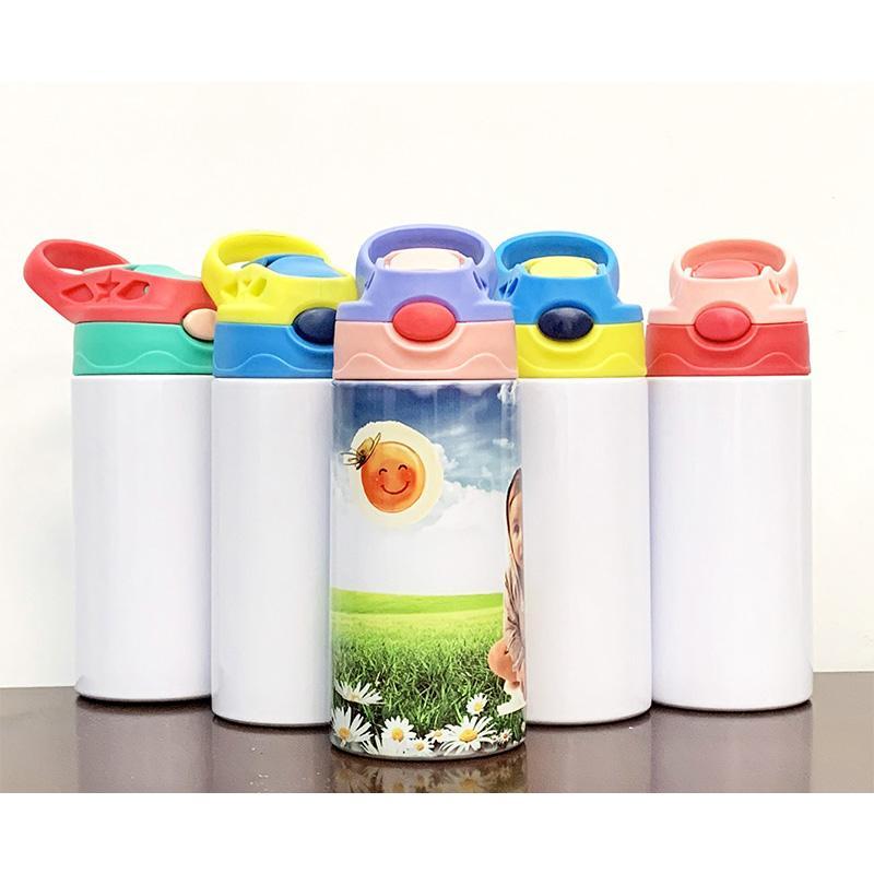 DIY 350 ملليلتر الأطفال سيبي كأس أكواب 12 أوقية التسامي الاطفال زجاجة المياه بهلوان فارغة 316 الفولاذ المقاوم للصدأ جدار مزدوج فراغ كؤوس القدح