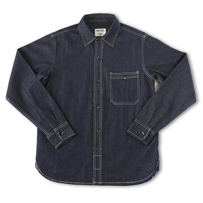 Mcikkny 남성용화물 노동자 청바지 셔츠 긴 소매 캐주얼 데님 남성 솔리드 컬러