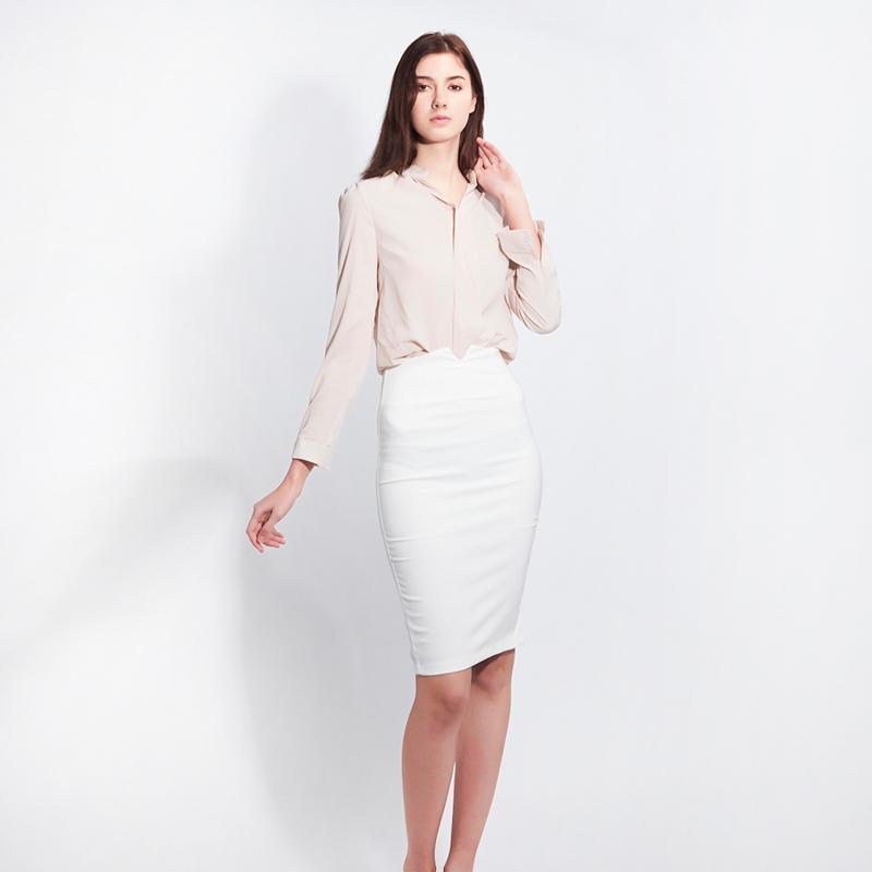 Koreanische Version Slim Elegante Frauen Weiß Sexy High Taille Tasche Hüfte Rock Damen Mode Hohe Taille Bogen Rock Moda Feminina Faldas x0428