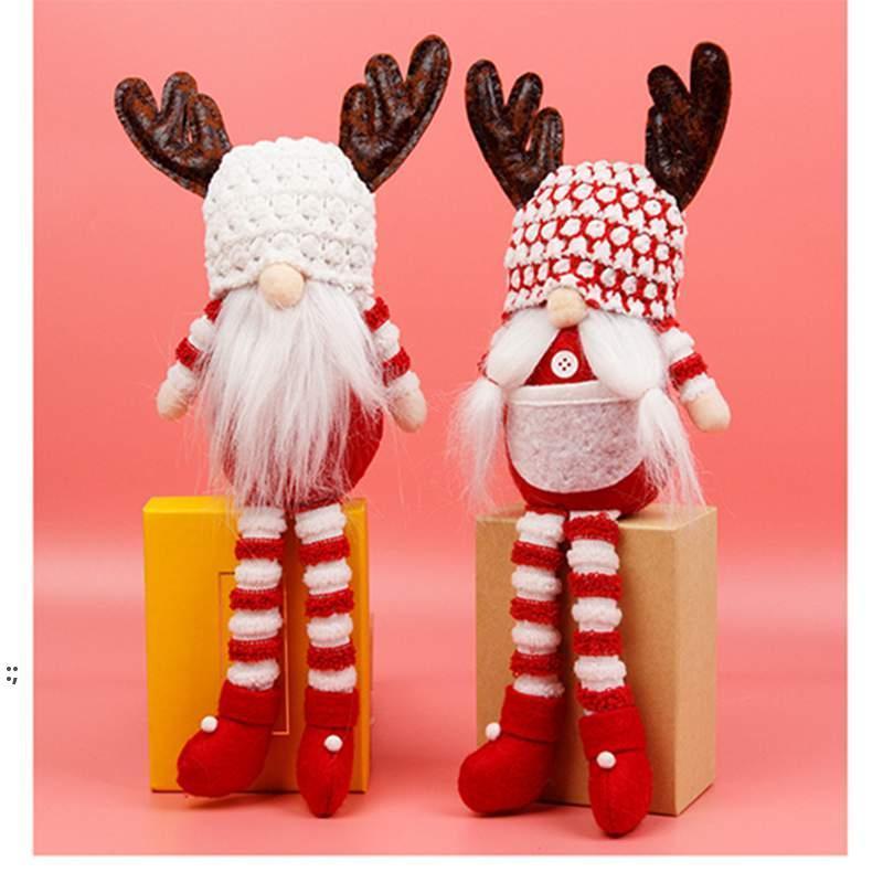 Gnome sans visage de Noël Santa Xmas Arbre suspendu Ornement Poupée Décoration Accueil Pendentif Cadeaux Drop Ornements Fournitures OWB8976