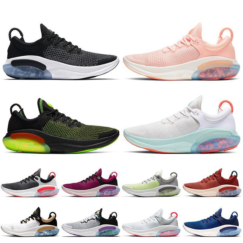 Nike Joyride Run Flyknit de punto Zapatos Ejecutar para hombre de los zapatos corrientes Universidad de vela blanco triples blanqueados Coral Mens zapatillas Entrenadores