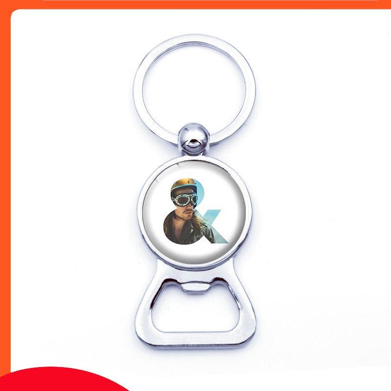 Pendentif mode hebdomadaire hebdomadaire bouteille porte-clés en métal
