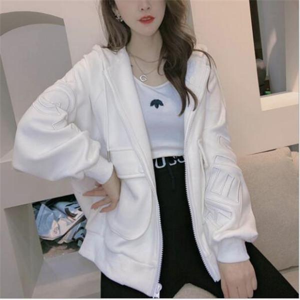 2021 Primavera e autunno Lettere ricamate da donna Lettere casual Casual Top Fashion Cappotti corti Nuova giacca sottile vestiti Top