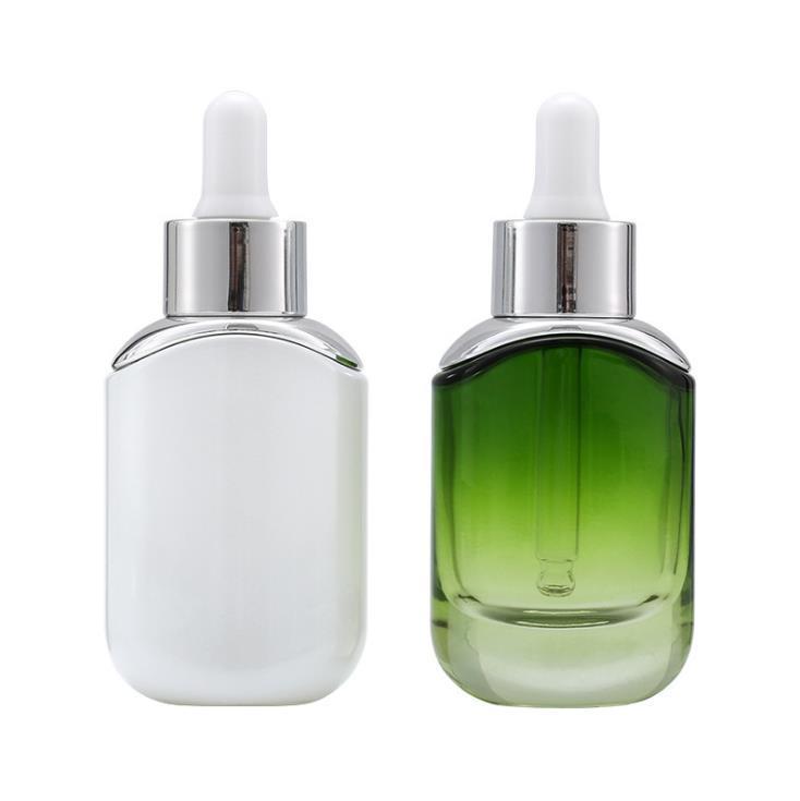 30ml branco verde gotas de vidro de vidro vazio perfume amostra tubos de amostra de óleo essencial reagente garrafa recarregável GGA4637