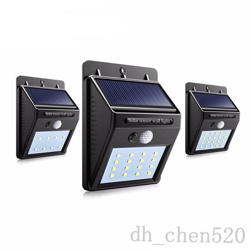 Potência solar LED solar parede ao ar livre lâmpada solar com sensor de movimento PIR lâmpada de jardim do pátio de rua