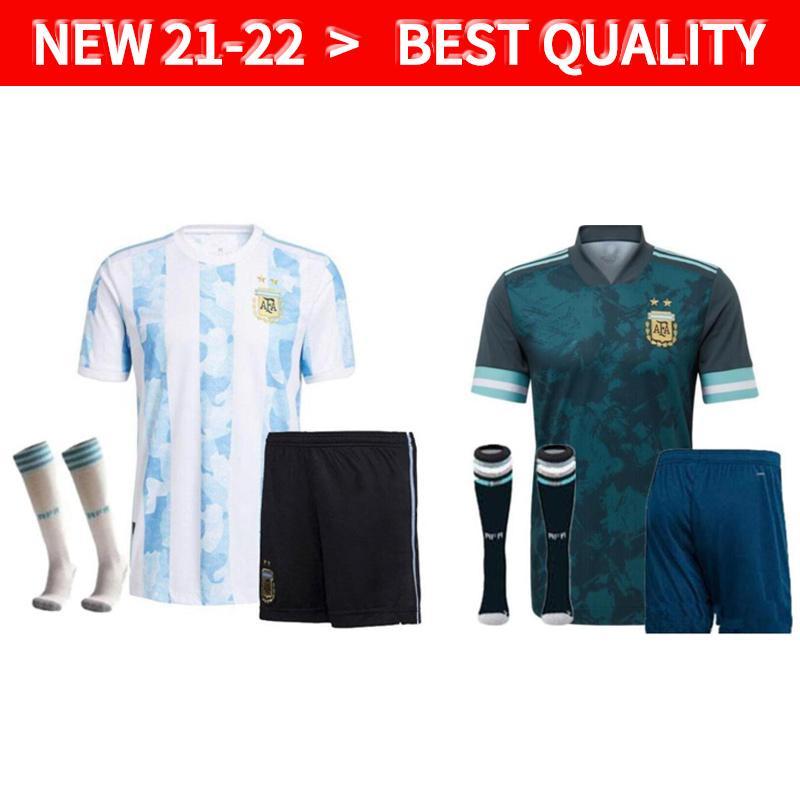 2021 2022 الرجال + أطفال الأرجنتين لكرة القدم جيرسي 20 21 الصفحة الرئيسية ماريا أجويرو هيجين 20 21 ميسي dybala بنين الكبار عدة كرة القدم