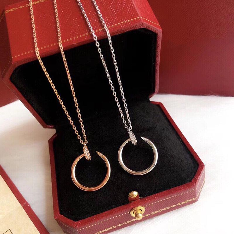 Collana di diamanti uomini donne designer gioielli moda marca storto chiodo women women collana oro amante presente croce collana donna 2021050710xv