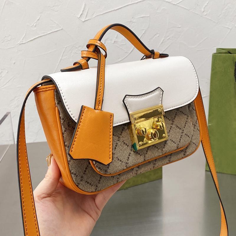 Asma kilit crossbody omuz çantası lüks tasarımcılar çanta kadın tuval patchwork moda klasik çanta ile orijinal yeşil kutu