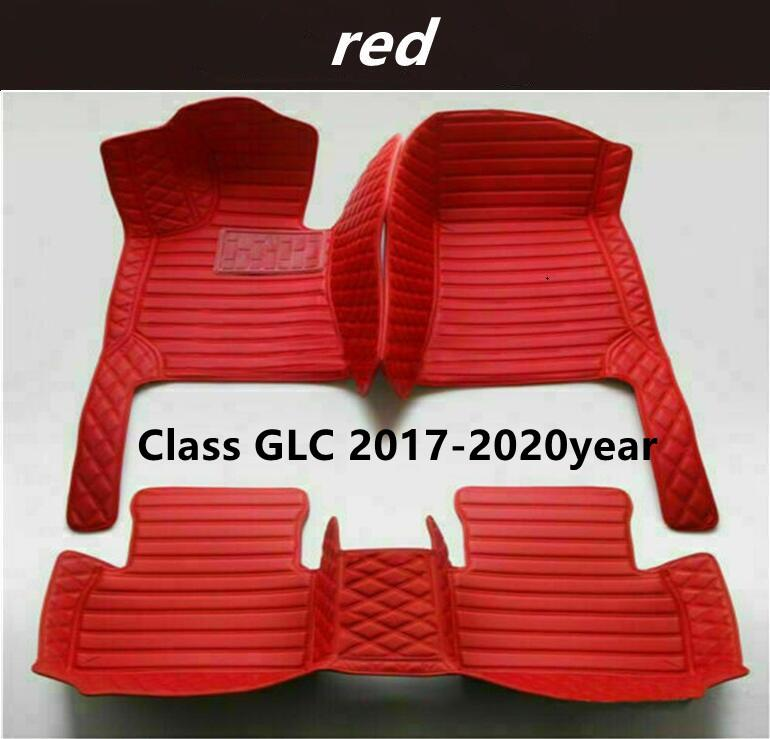 Mercedes-Benz Class GLC 2017-2020year Custom Car Splicing Floor Mats Waterproof Leather Wear-resistant Non-toxic Tasteless and Environmentally Friendly Foot Mats