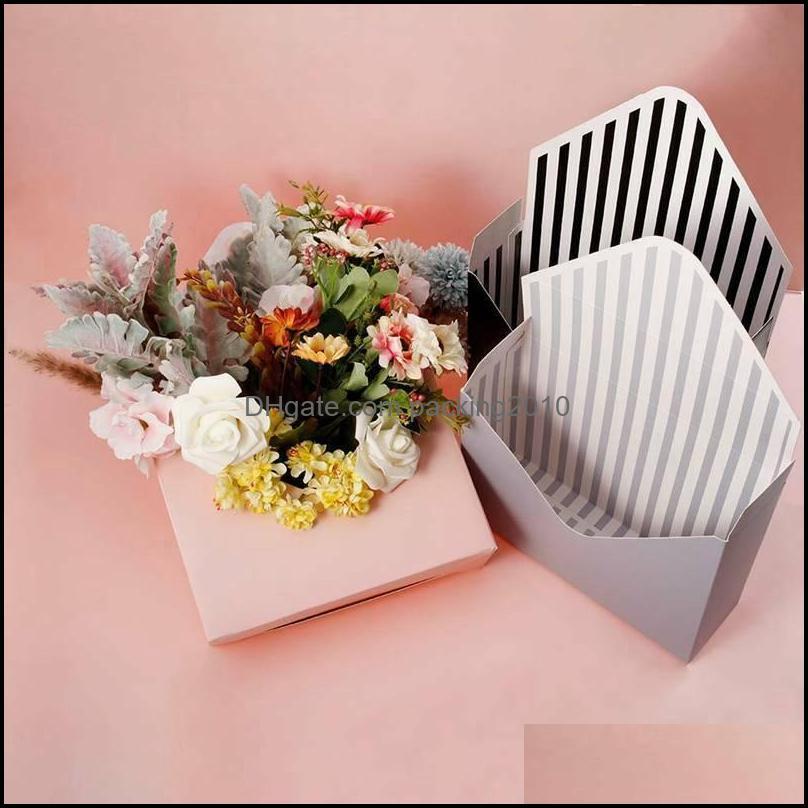 Event Festive Supplies Home Gardenpcs Envelope Fold Flower Box Paper Floral Wrap Party Wedding Gift Boxes-Wine Red & Black Wrap Drop Deliver