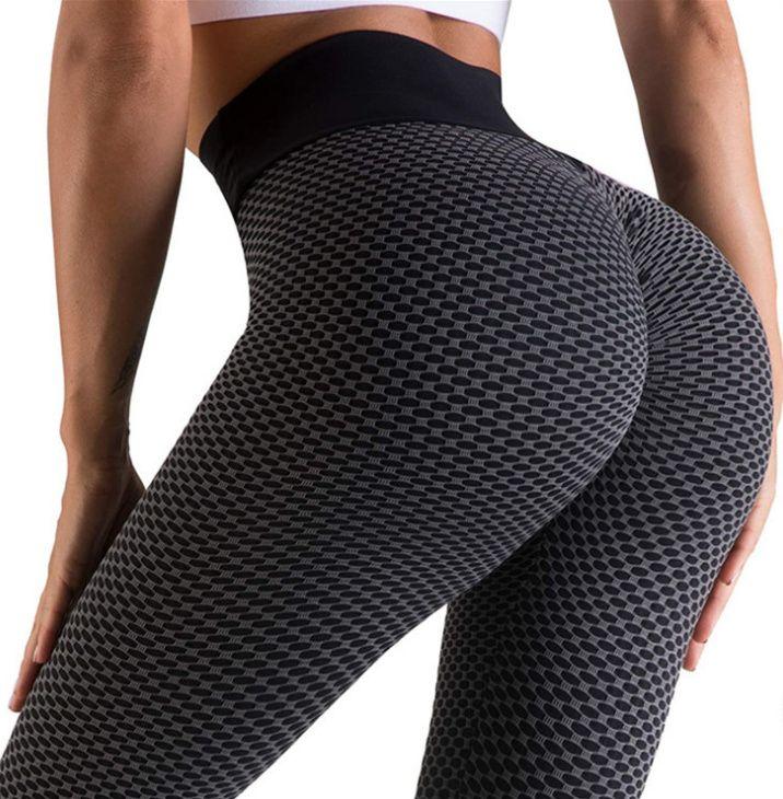 Femmes Leggings Sports Gym Portez-la Spectacle Fitness Outfit Patchwork Imprimer Taille haute Taille Élastique Push Up Longueur de la cheville Pantalon de Yoga