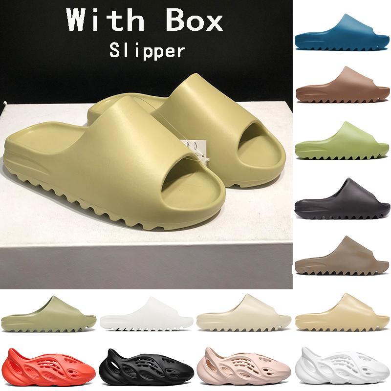 2021 Nuovo Top Schiuma Corridore Stivale Sandalo Delle Donne Donne Slipper Triple Black Bianco Bone Bone Resin Desert Sandals Sandals US 5-11