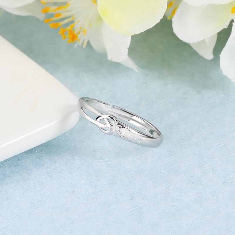 Ring Ring Damenmode, ein Herz, einfache Liebe, miteinander verflochten