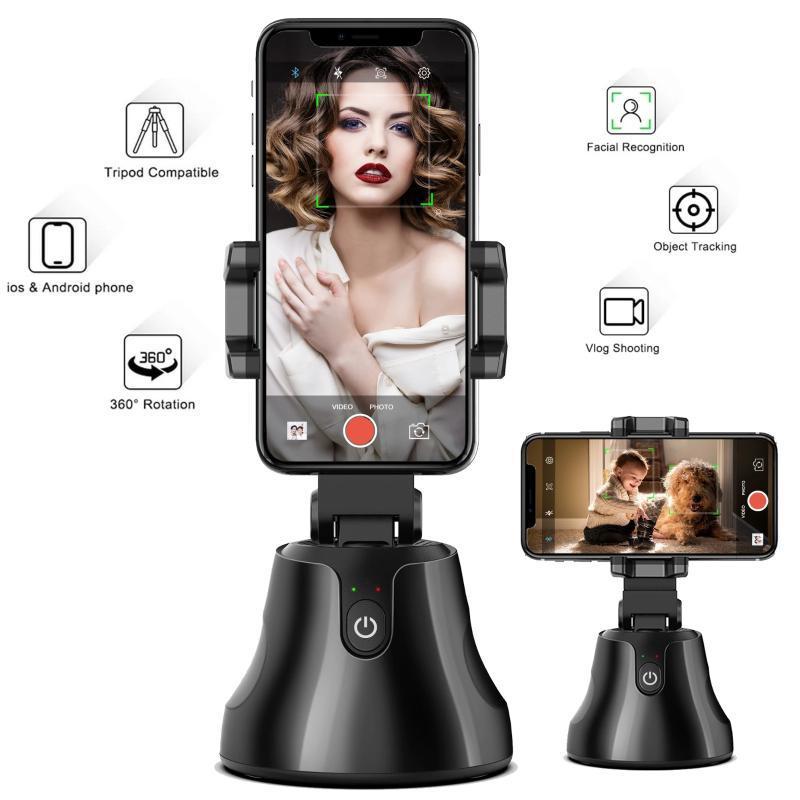 Auto Shooting Selfie Sticks Rotating Automatic Face Rastreo Trípode Cámara Handheld Smartphone Gimbal Accesorios Trípodes